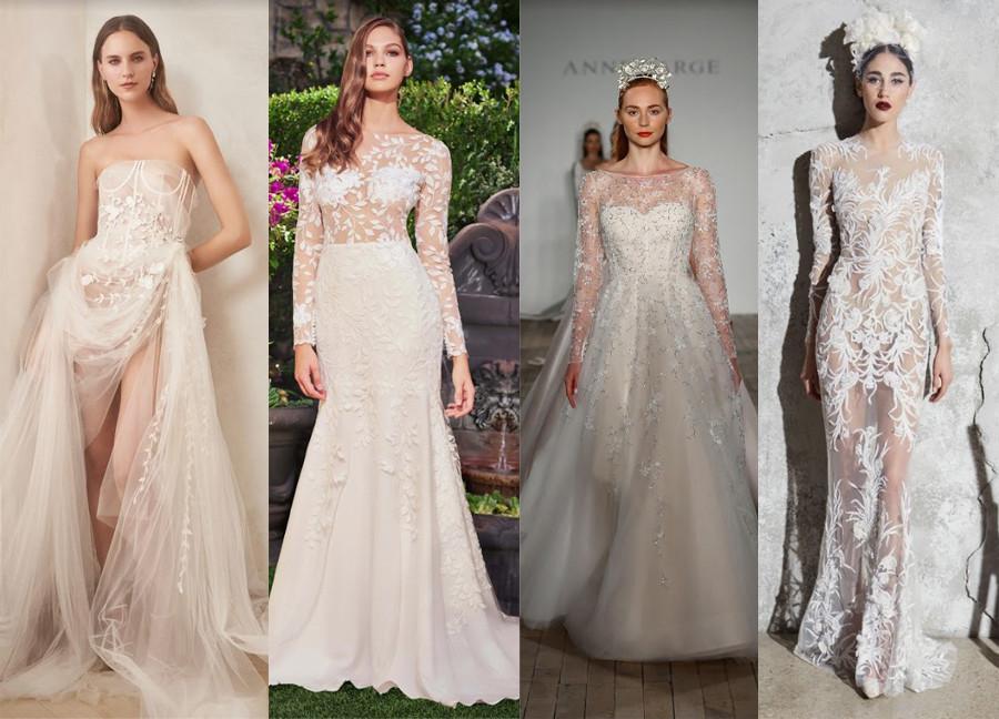 Oscar de la Renta Fall 2020, Tadashi Shoji Fall 2020, Anne Barge Fall 2019, Zuhair Murad Spring 2020 new york bridal fashion week 2019 2020