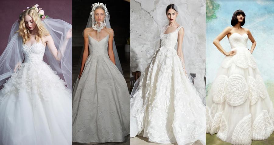 Marchesa Fall 2020, Reem Acra Fall 2019, Zuhair Murad Spring 2020, Viktor & Rolf Fall 2020 bridal fashion week new york fashion week