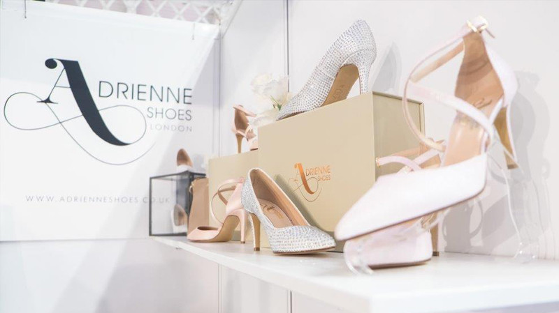 adrienne shoes the national wedding show 2020 london birmingham bridal shoes wedding shoes