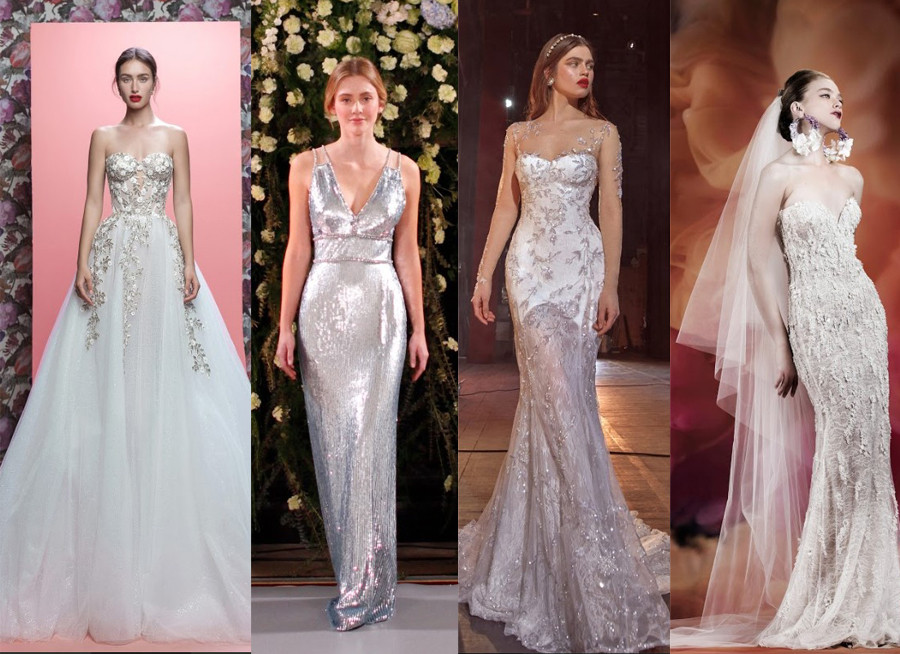 Galia Lahav Spring 2019, Jenny Packham Spring 2019, Galia Lahav Spring 2020, Naeem Khan Fall 2020 embellished sparkly wedding dresses new york bridal fashion week 2020