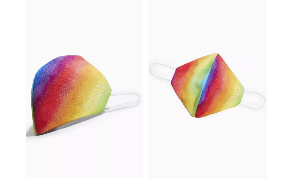 topshop rainbow face mask face covering