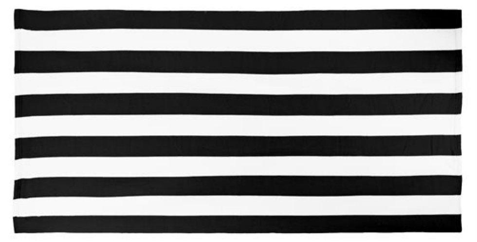 Black Beach Towel