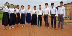 The 10 scholarship students