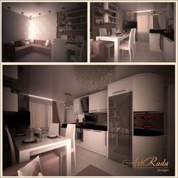дизайн гостиной в романтическом стиле.