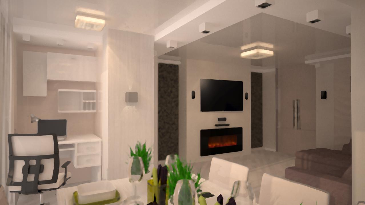 Дизайн интерьера многофункциональной гостиной