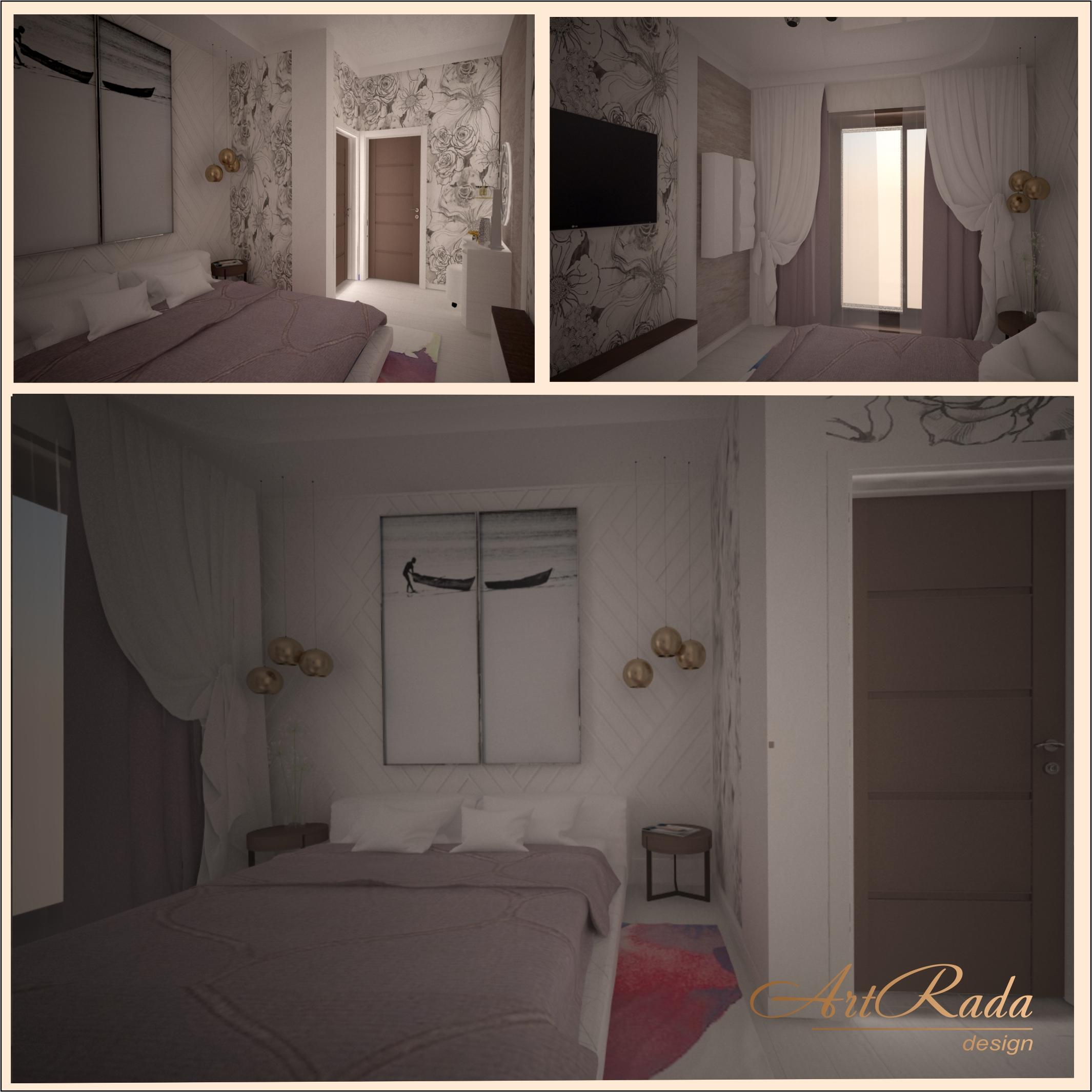 Дизайн современной спальной.