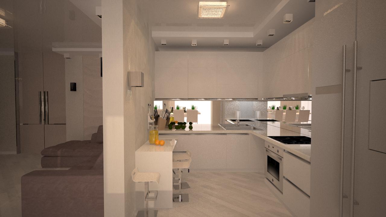 Дизайн-проектирование кухонной зоны.