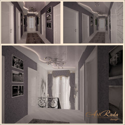 Дизайн холла на втором этаже частного дома.