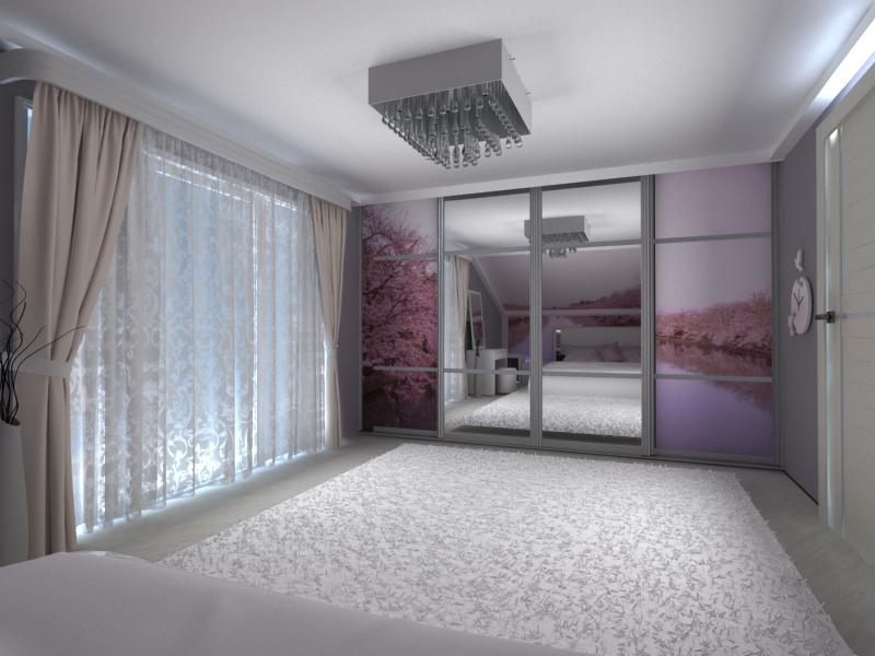 Дизайн проектирование спальной комнаты  в современном стиле.
