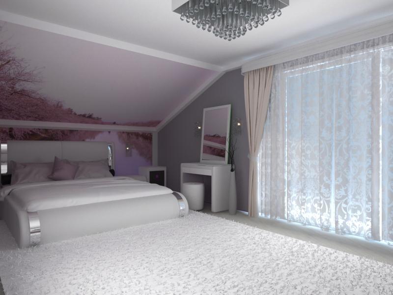 Дизайн проектирование спальной комнаты в современном стиле. Вид2