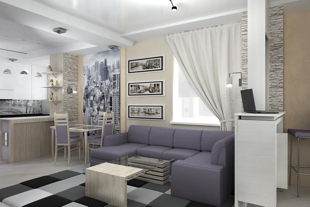 Дизайн проектирование гостинной