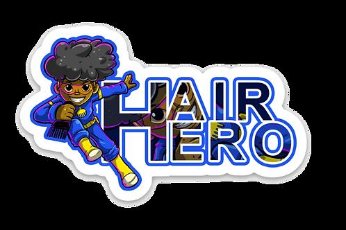 Hair Hero Die Cut Sticker
