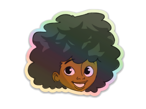 Afro Fromo Holographic Sticker