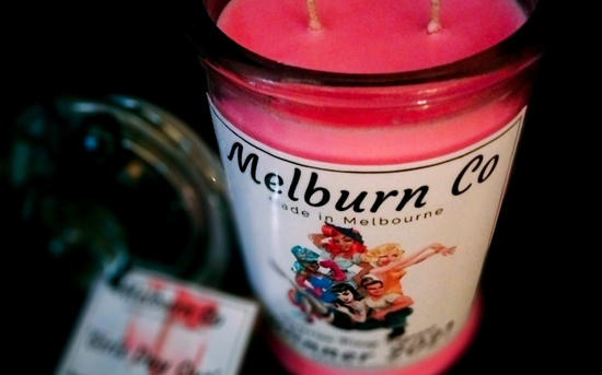 Victorian Pinup Pageant 2021 Large double wick candle
