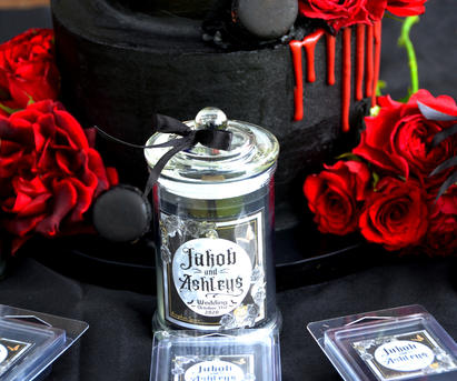 Beautiful handcrafted Gothic Wedding favours