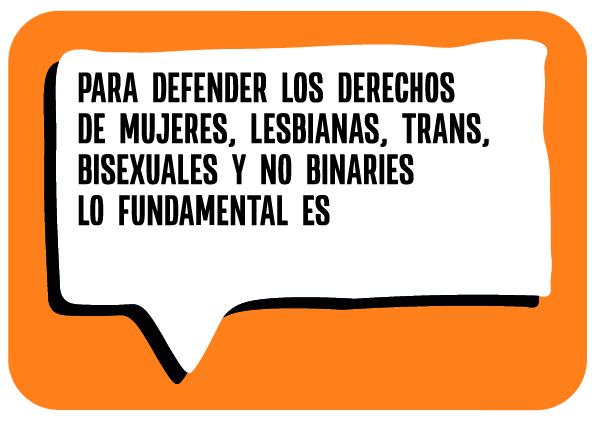 Para defender los derechos