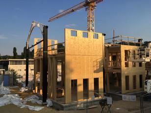 Le chantier en ossature bois