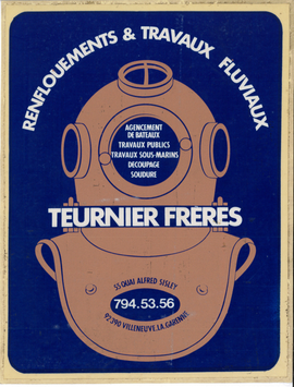 Affiche publicitaire de l'entreprise Teurnier Frères, non datée.