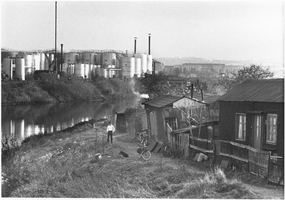 La Seine à Nanterre, de la série Île de Paris, 1958. © Donation Willy Ronis, Médiathèque de l'architecture et du patrimoine, ministère de la Culture (France).