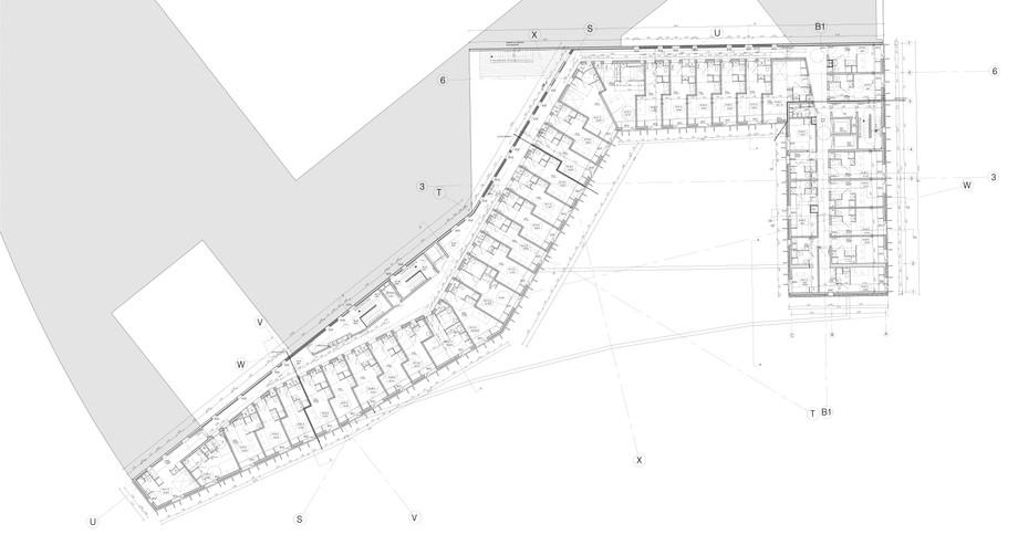 Plan courant du quatrième étage