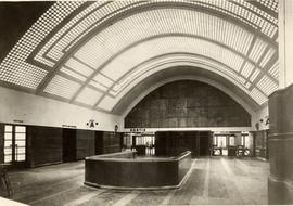 Le vestibule d'accès à la galerie