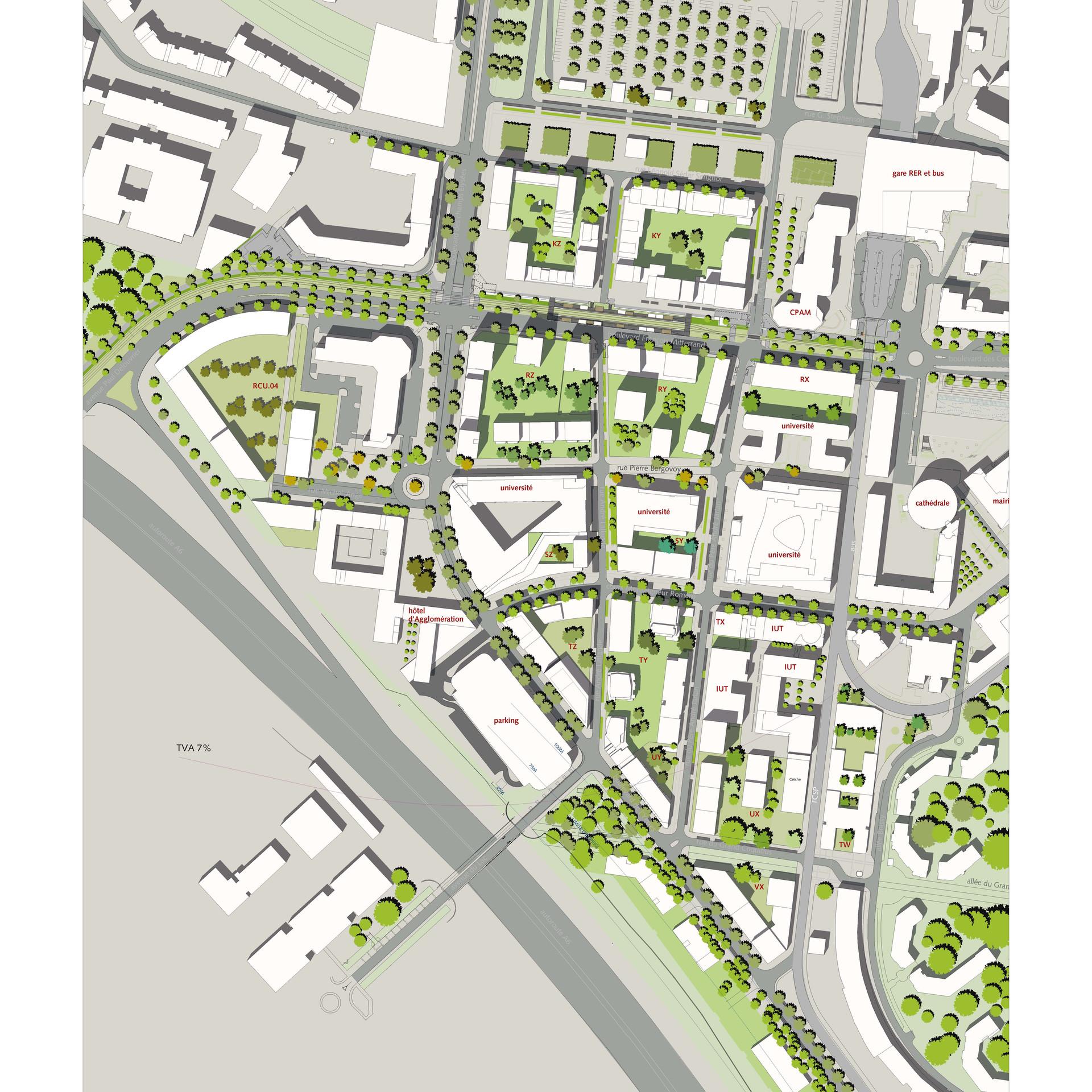 Plan d'aménagement de la ZAC centre urbain