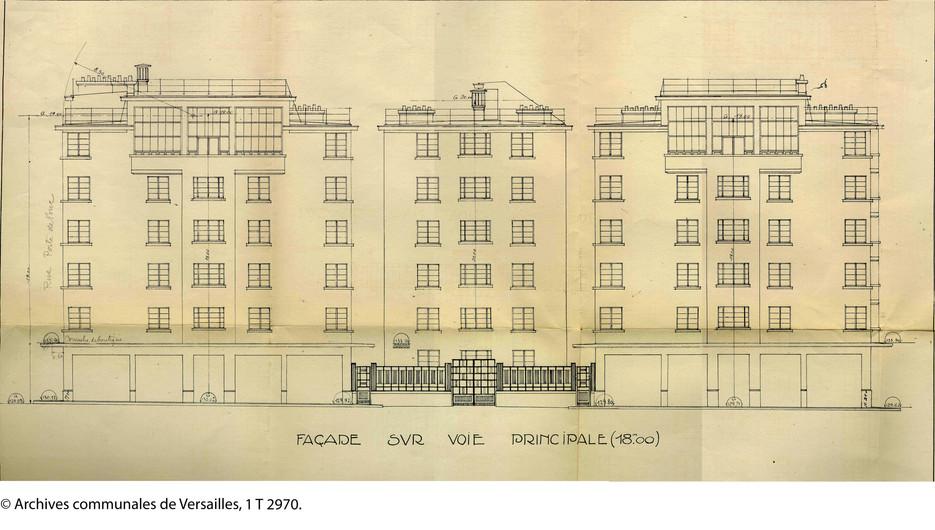 La façade principale