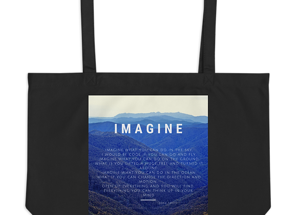 """Imagine"" Large organic Tote Bag"