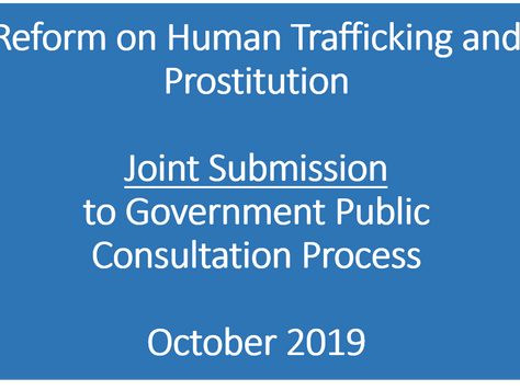 Several organisations including the A4E submit proposals against human trafficking and the legalisat
