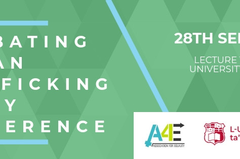 The A4E announces its first conference - Combating Human Trafficking