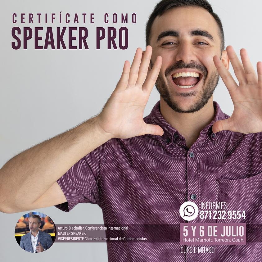 CERTIFICACIÓN Internacional SPEAKER PRO