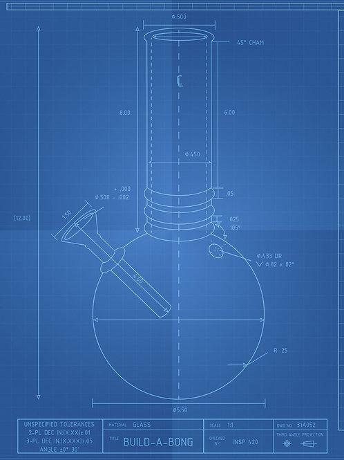 Original Bong Blueprint Schematic T-Shirt