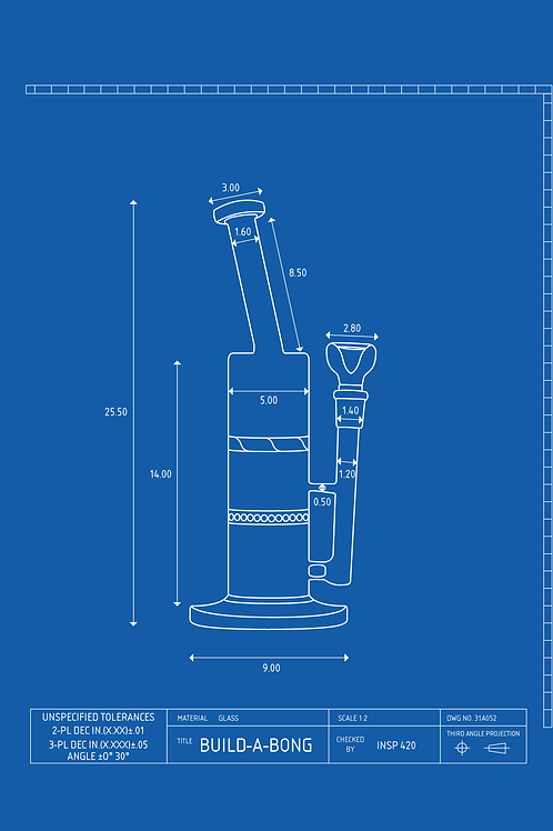 Dabber Rig Bong Schematic Design T-SHIRT