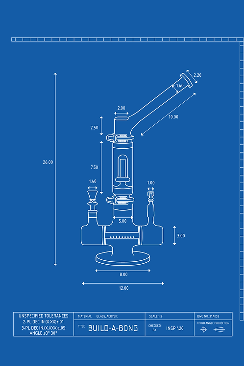 Concentrates Bong Schematic Design T-SHIRT