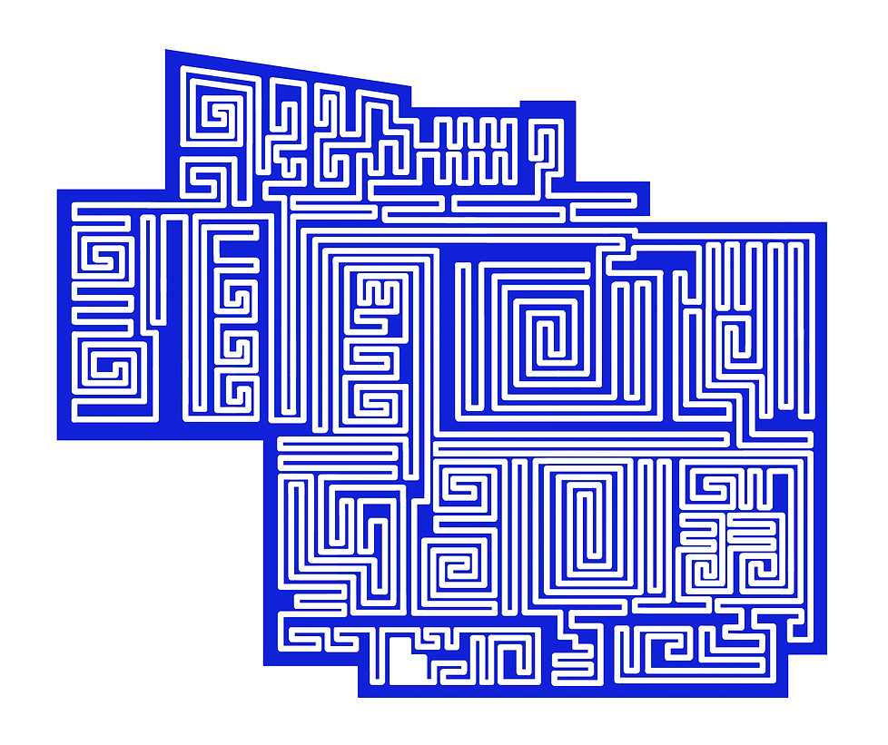Labirynth outline working full size BLUE
