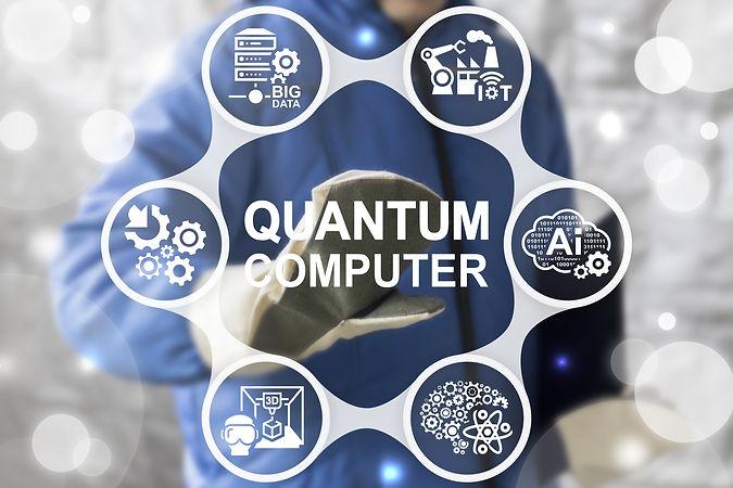 Quantum Computer Industry 4 Concept Inte