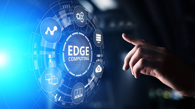 Edge computing modern IT technology on v
