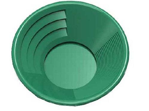 "8"" Green Dual Riffle Gold Pan,3"" x 1/4"" Deep Riffles"