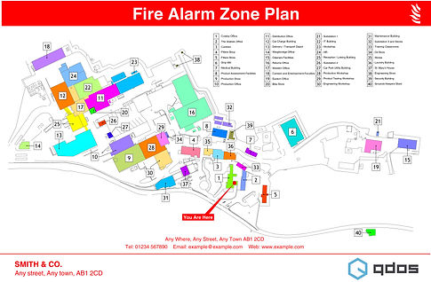 Fire Alarm Zone Plan - Site Plan