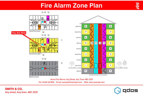Fire Alarm Zone Plan - High Rise