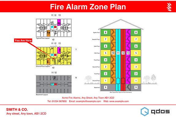 Fire Alarm Zone Plan - High Rise