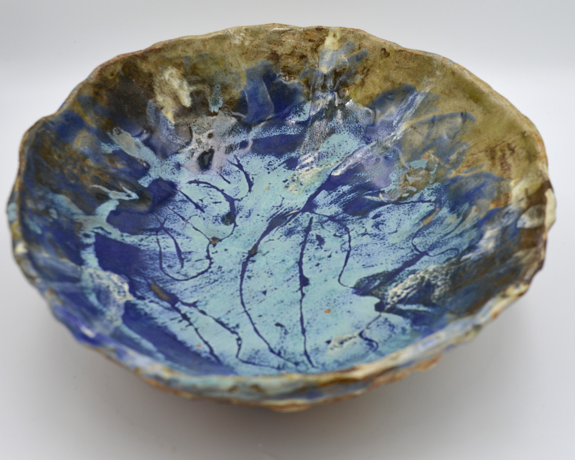 Blue Leaf Bowl (top)