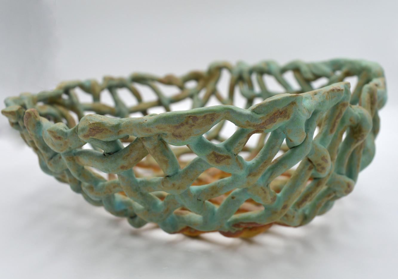 Turquoise Basket (side)