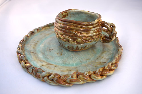 Braid Cup and Plate Set