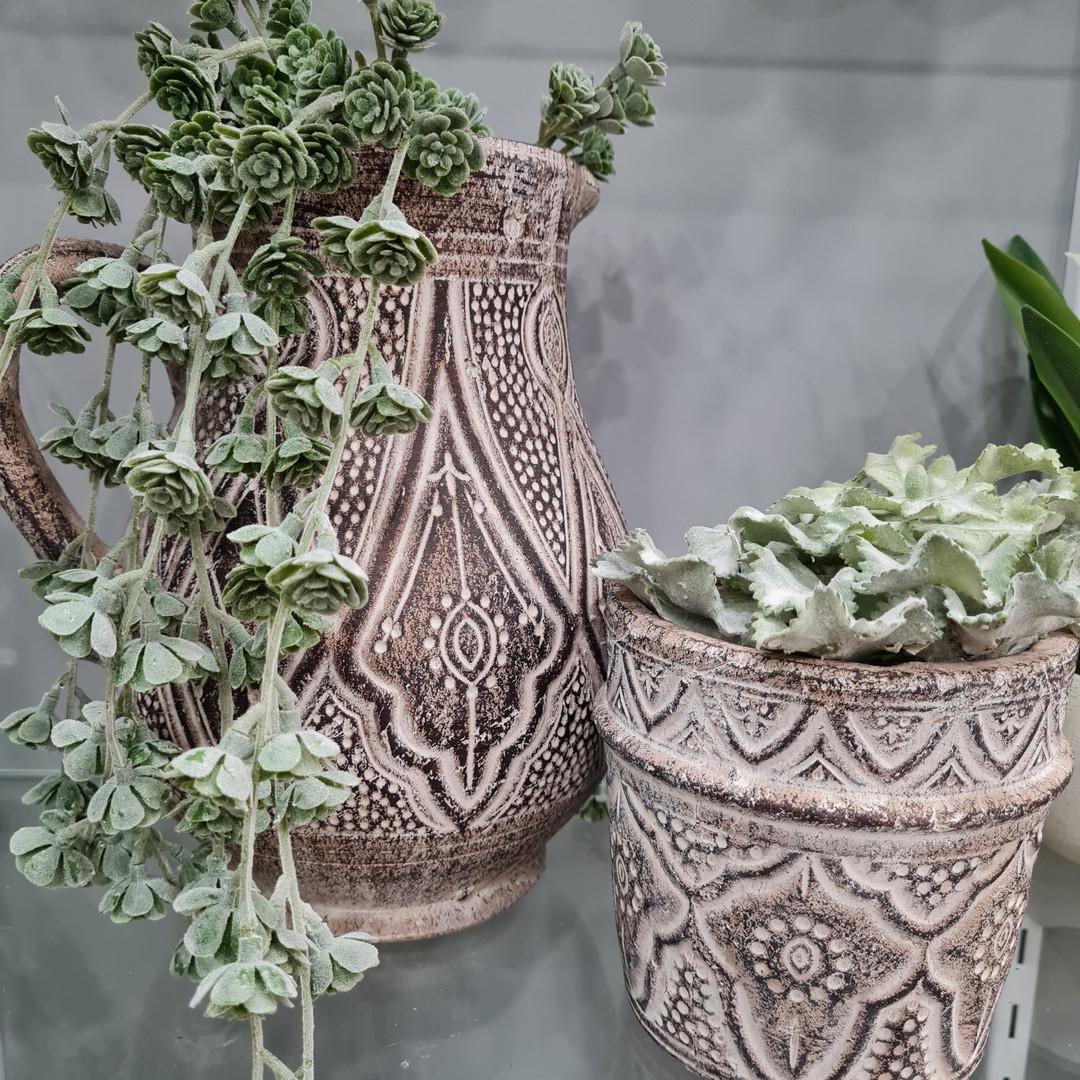 (Left) Large Tribal Ceramic Vase $44.99