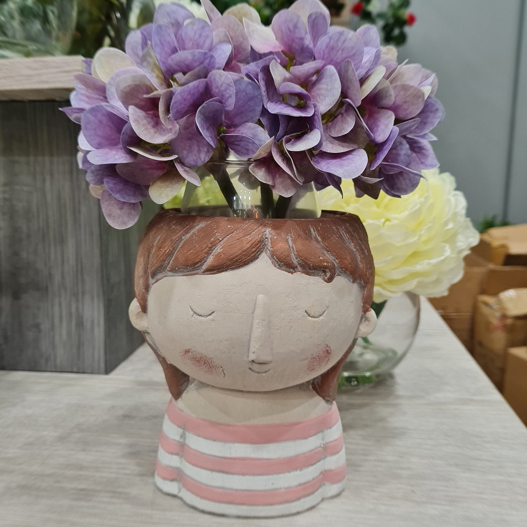 Helga Girl Planter $24.99