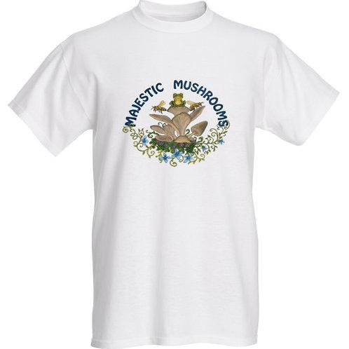 White Basic T-shirt  w/ Plain Logo