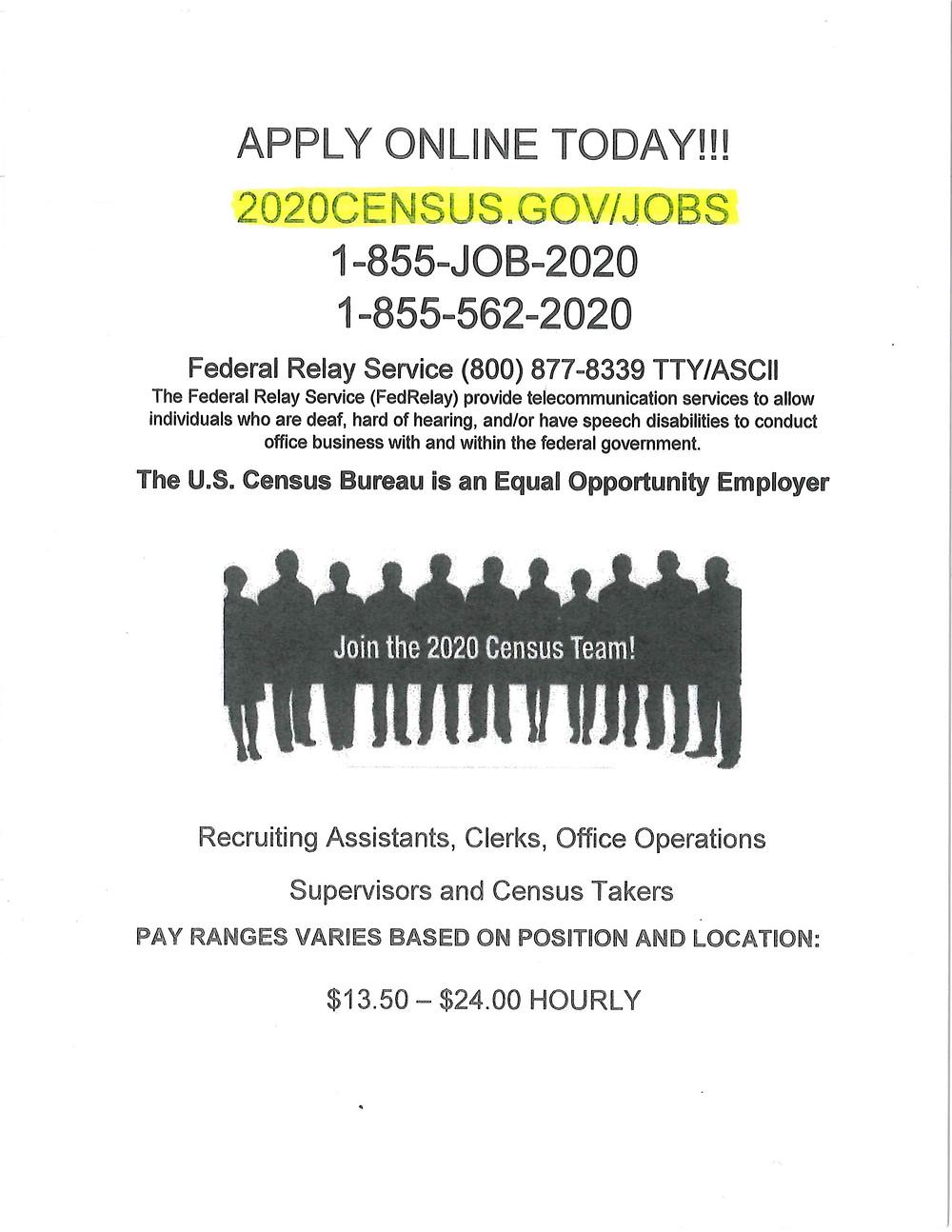 2020 Census Employment Ad