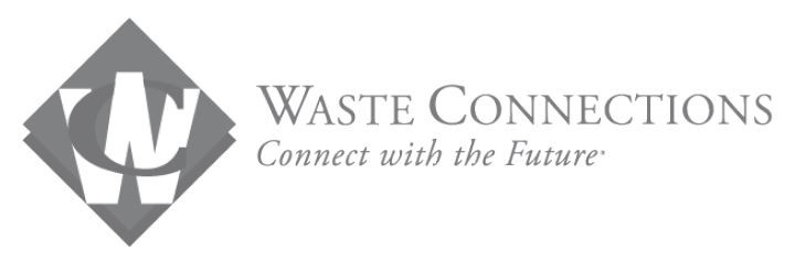 "Waste Connections logo with slogan ""Connect with the Future"""