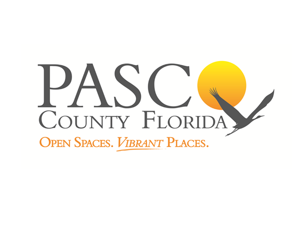 Text: Pasco County Florida, Open Spaces. Vibrant Places